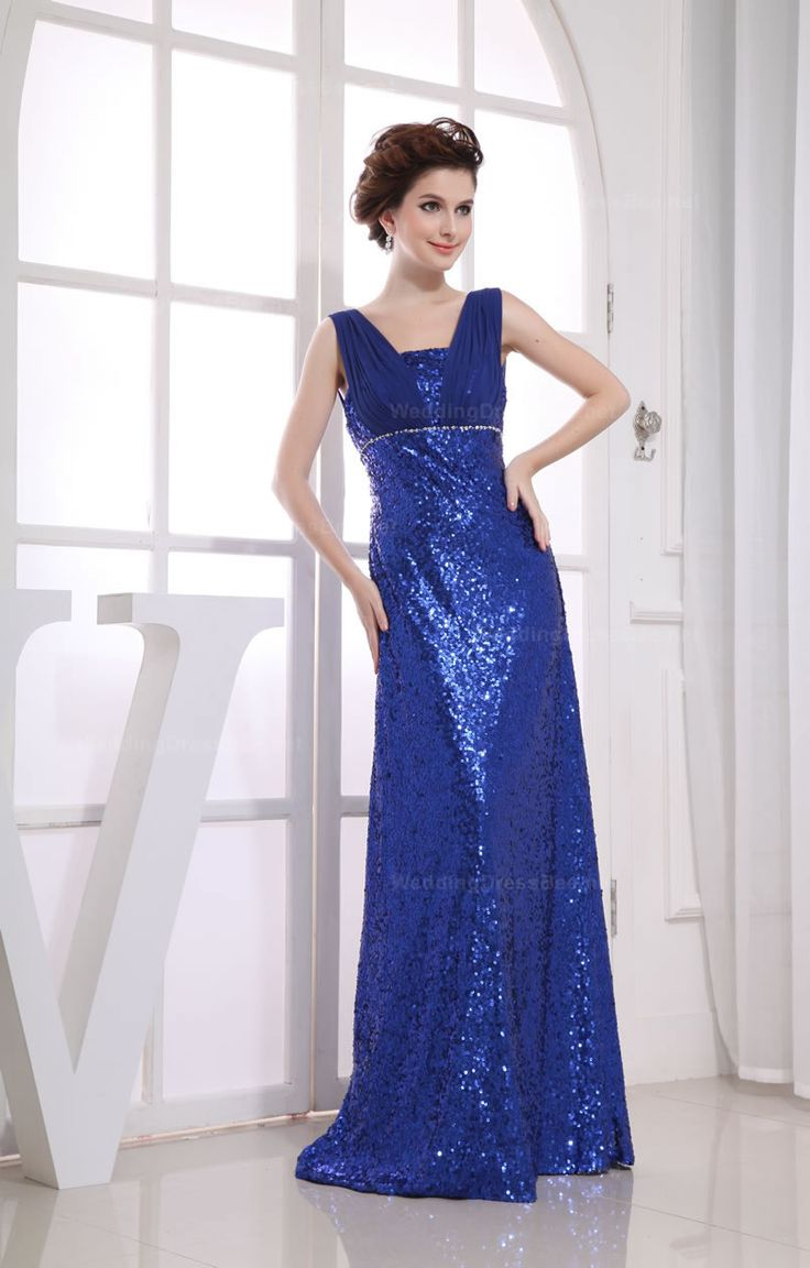 Style No.0SP00415,Elegant V-neck Fully Sequins Evening Dress,