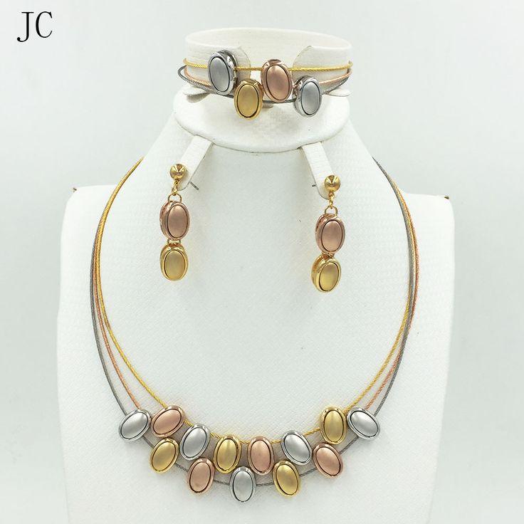 Dubai Jewelry Set Gold Plated filled Necklace bracelet, Women elegant wedding for party Dubai Fashion beads Jewelry Sets - free shipping worldwide