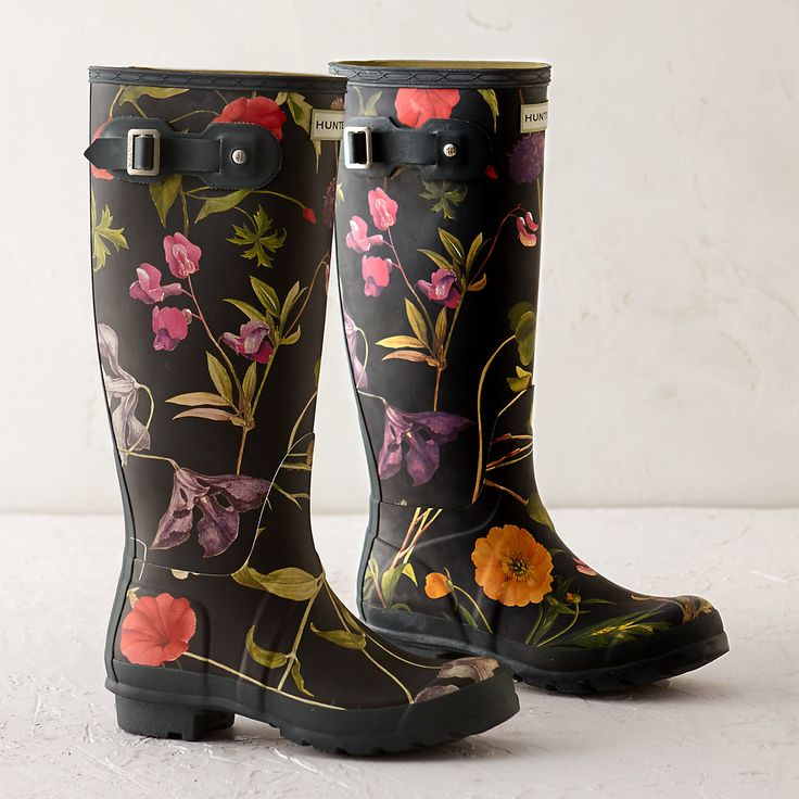 Hunter Floral Garden Boots, Tall in Mother's Day + Gifts Gardener Gifts at Terrain