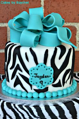 My Creative Way: Turquoise Zebra Cake