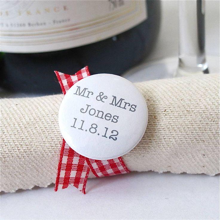 wedding favour badges
