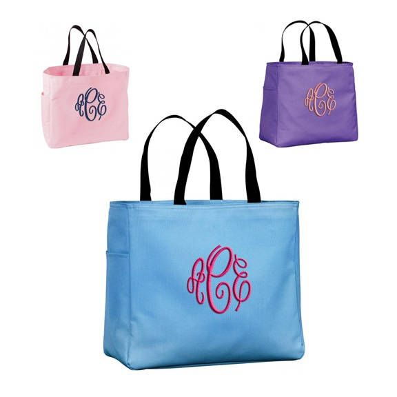 Monogram Bridesmaid Gift Tote Bag. Personalized Bridal Tote Bag, Bridesmaid Tote Bag, Monogram Tote Bag, Set of 23456 Bridesmaid Tote Bag, by monogrammadness12 on Etsy