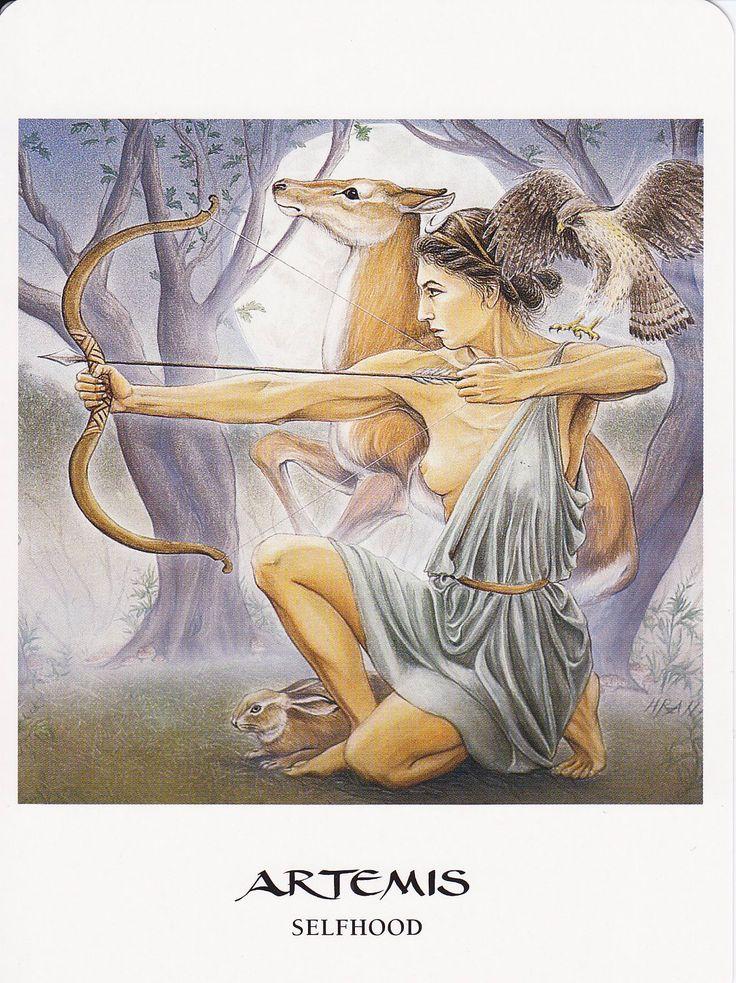 ✯ Artemis in The Goddess Oracle deck :: By Hrana Janto & Amy Sophia Marashinsky  ✯