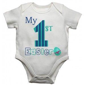 My First Easter Boys Baby Vests Bodysuits