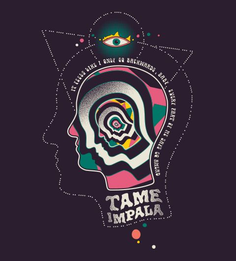 Camiseta Do Tame Impala Anos 80 Music Pinte