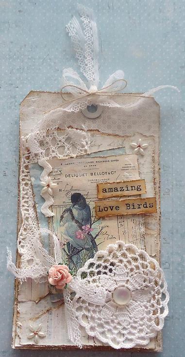 Kort og andet godt: Shabby chic/vintage hos Card and Scrap