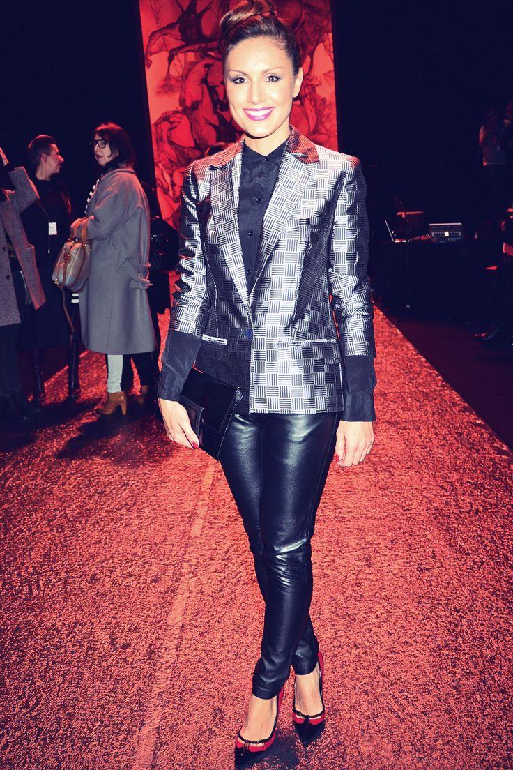 Nazan Eckes attends Mercedes-Benz Fashion Week Autumn/Winter 2014/15 on January 16, 2014 in Berlin, Germany.