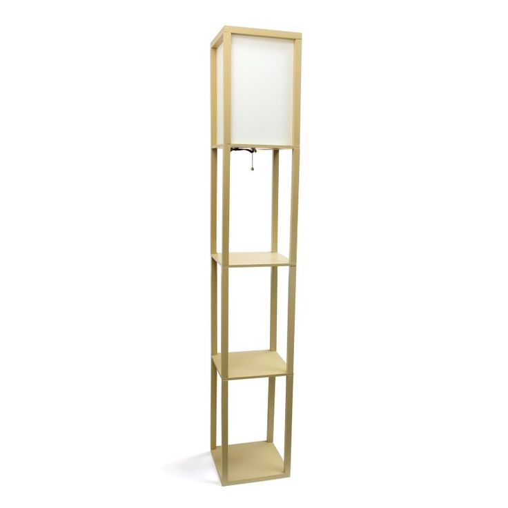 Simple Designs LF1014 Floor Lamp With Shelf   LF1014 TAN