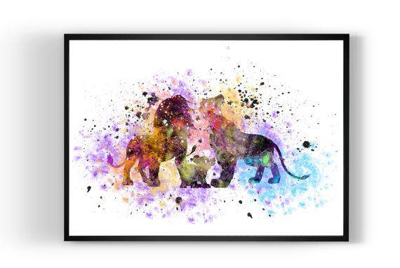Lion King Simba Family Disney Print Art Print by MulticolourArt