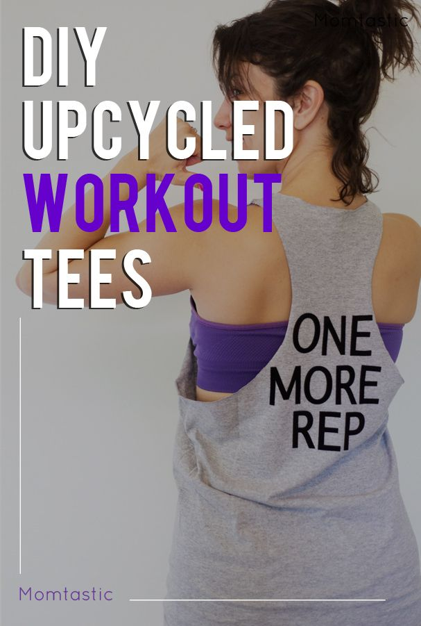 DIY upcycled workout shirts