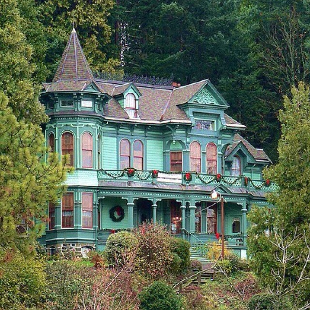 From Victorian Houses · Teal Painted Lady