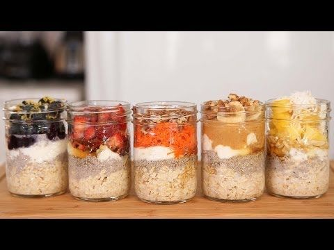 Overnight oats recipes! Make it the night before and enjoy in the morning!