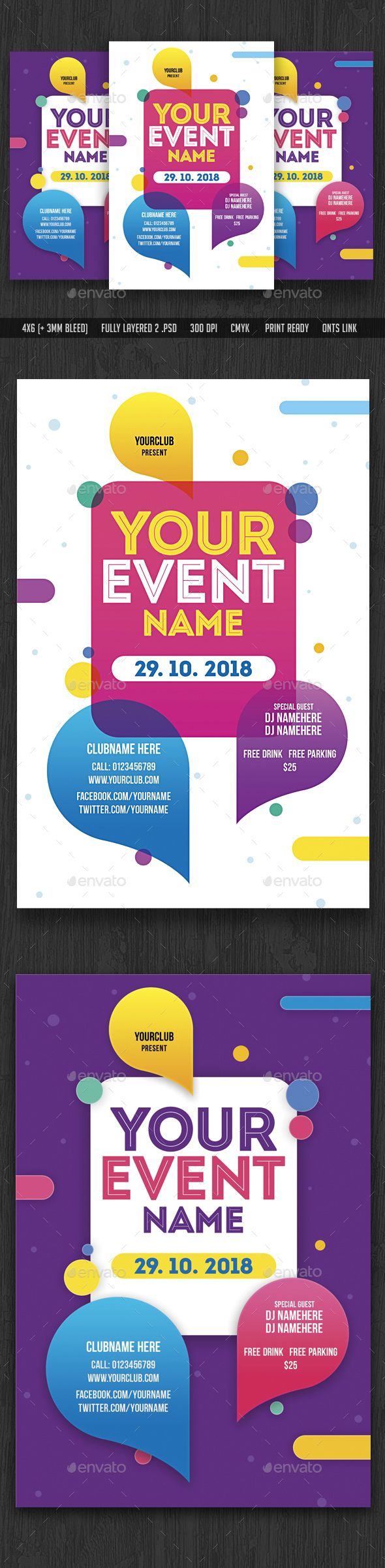 Event Flyer Template — Photoshop PSD #black party #champagne • Download ➝ https://graphicriver.net/item/event-flyer-template/19736319?ref=pxcr
