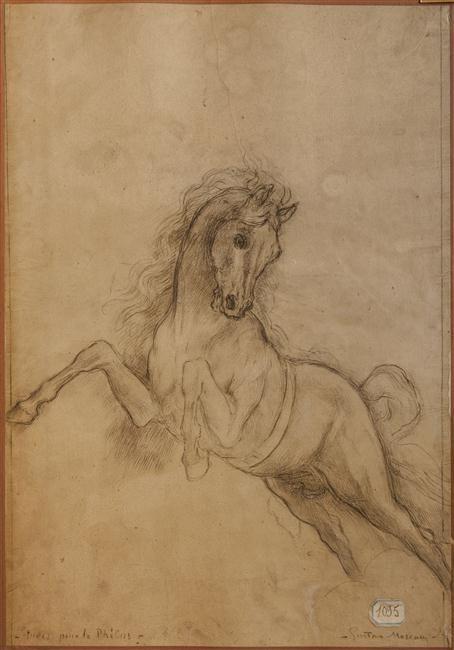 """Gustave Moreau, Etude de cheval pour """"Phoebus et Borée"""", Paris, musée Gustave Moreau"""