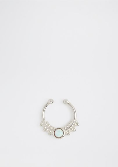 image of Pearlescent Faux Septum Ring