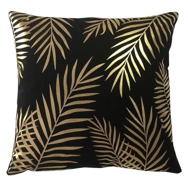 Gold Print Cushion Printed Cushions Fancy Pillows Fancy Cushions