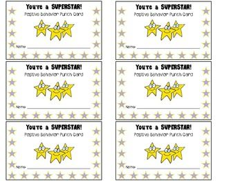 This file contains five different student incentive punch card templates.If you have a large amount of students, it can be very expensive to bu...