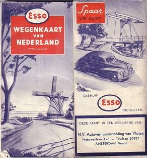 Esso map Netherlands 1949