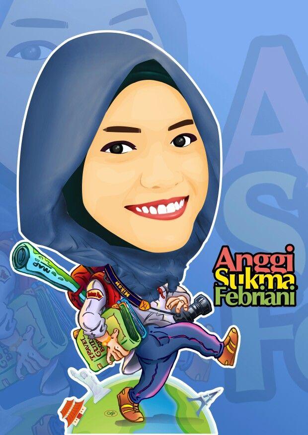 Karikatur pacar tercintah, Anggi Sukma Febriani :* keep romantic long last ever