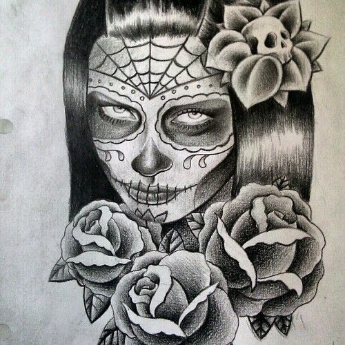 19 best day of the dead tattoo drawings images on pinterest tattoo ideas day of the dead and. Black Bedroom Furniture Sets. Home Design Ideas