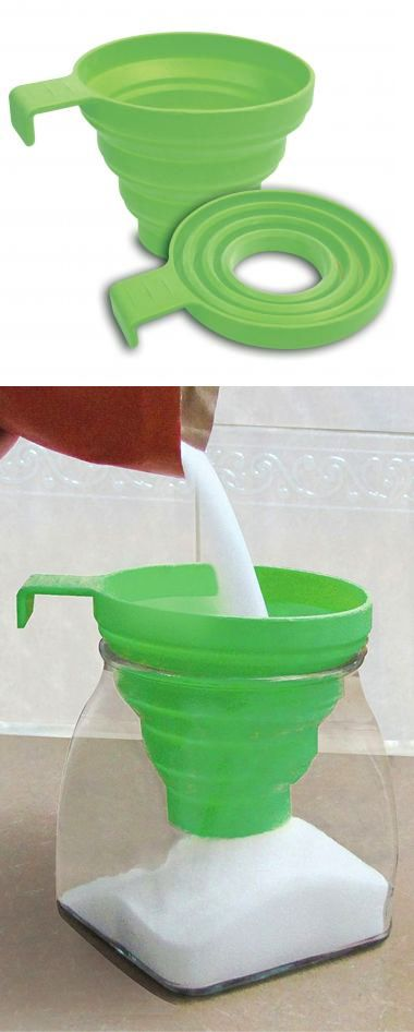 Collapsible funnel // super-handy mom-invented kitchen tool! #product_design