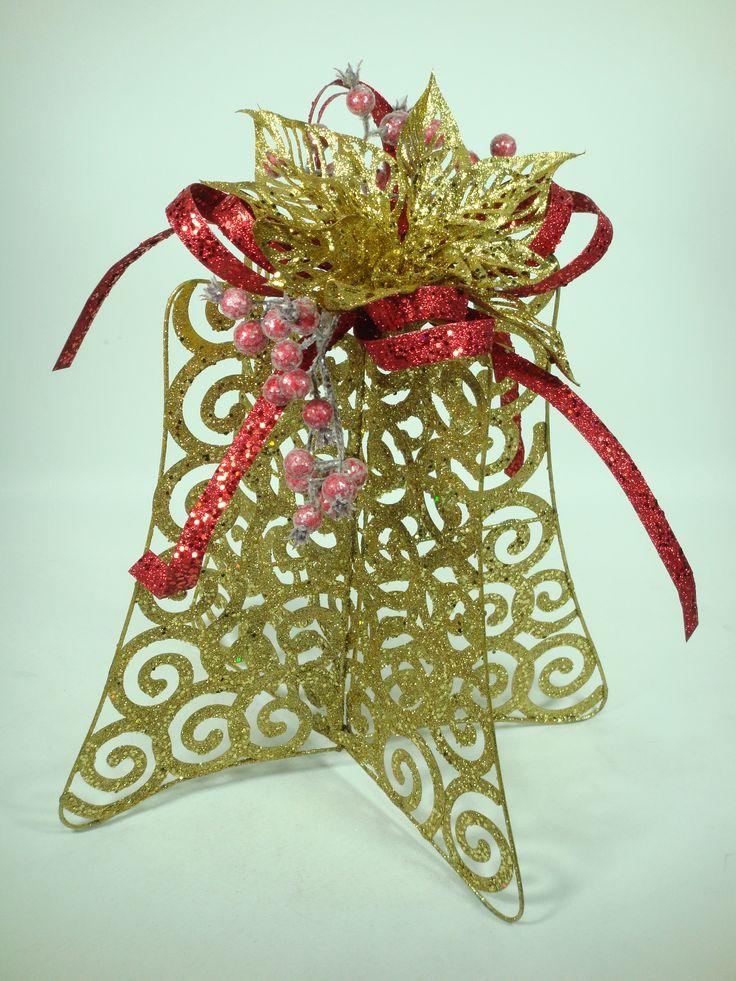 De alambre dorado con glitter