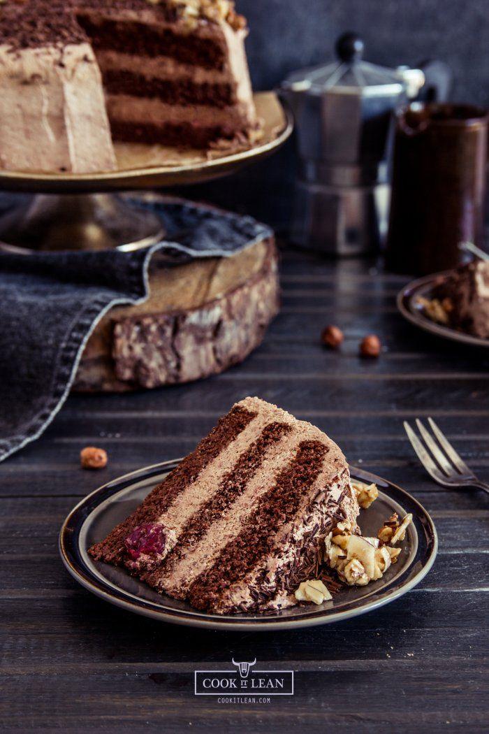 Tort czekoladowy – bez glutenu, bez nabiału, paleo