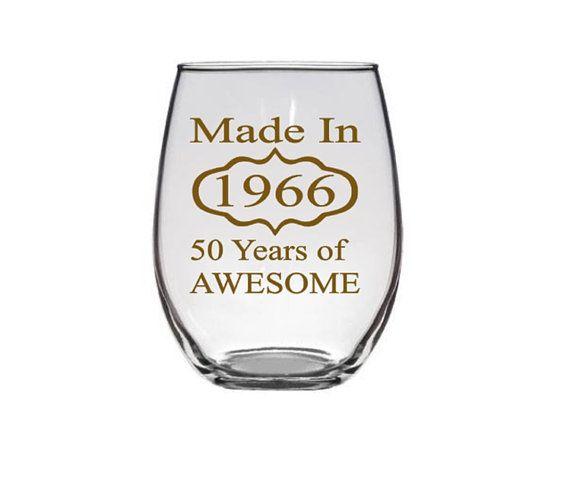 50th Birthday, Birthday gift ideas, Birthday Wine Glasses, 50th birthday party, Fabulous 50  by PersonalizedGiftsUS