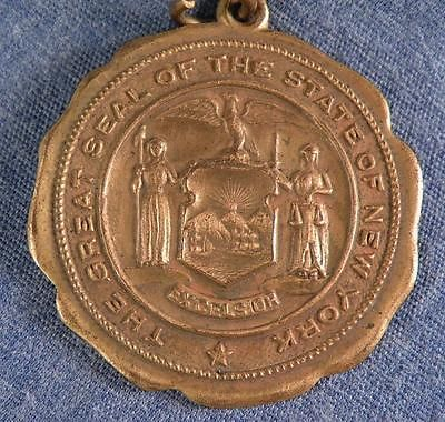 Vintage Great Seal Of The State Of New York 14k Gold