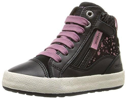 B Each C, Sneakers Basses Bébé Fille, Noir (Black/Bronze), 22 EUGeox