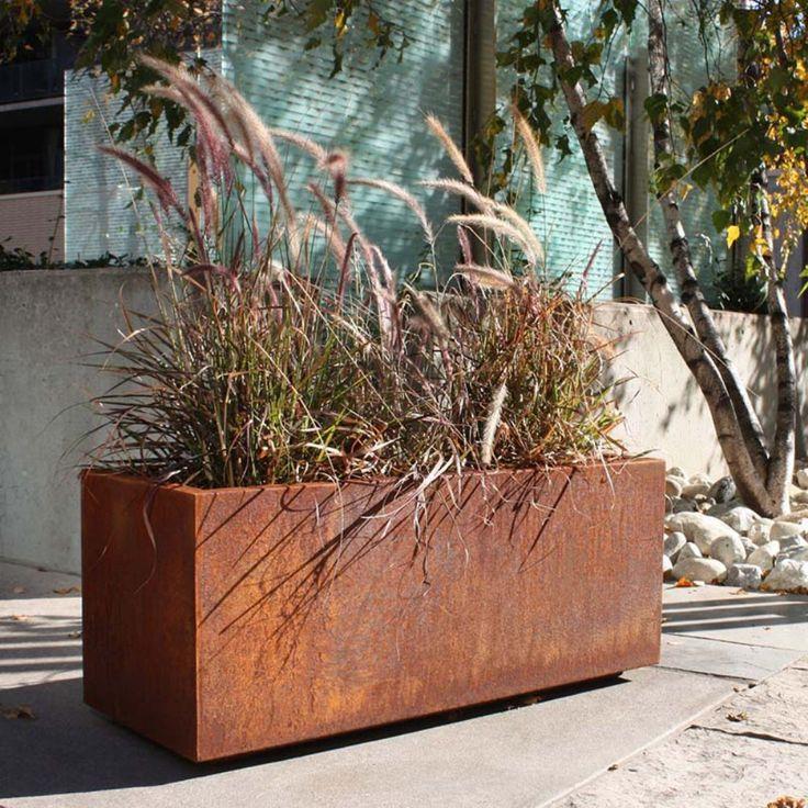 Kitchen Garden Box With Wire Top: 17 Best Ideas About Corten Steel Planters On Pinterest