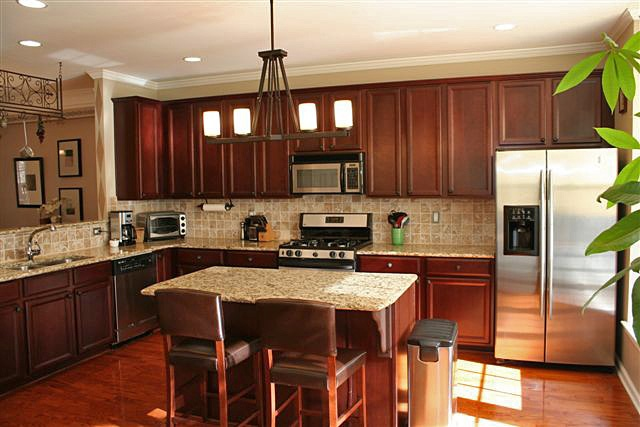 Granite Countertops Cherry Cabinets Amp Stainless Appliances Yum
