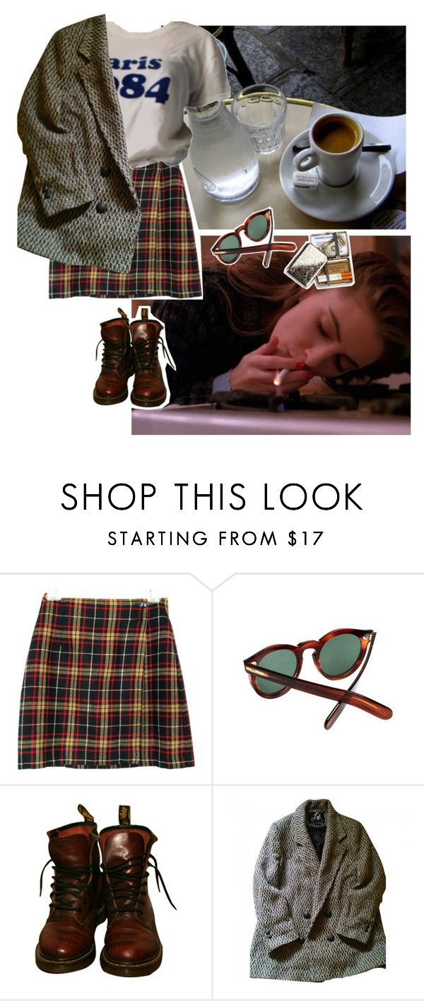 """Paris"" by linneminne ❤ liked on Polyvore featuring Cutler and Gross, Dr. Martens and Urban Outfitters"