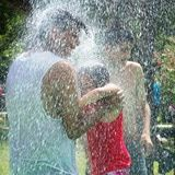 Are Splash Parks Good Options for Summer Water Fun?: Cooling off in a splash park is often tempting to adults as well as kids.