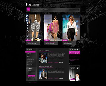 Fashion News Drupal Templates by Mercury