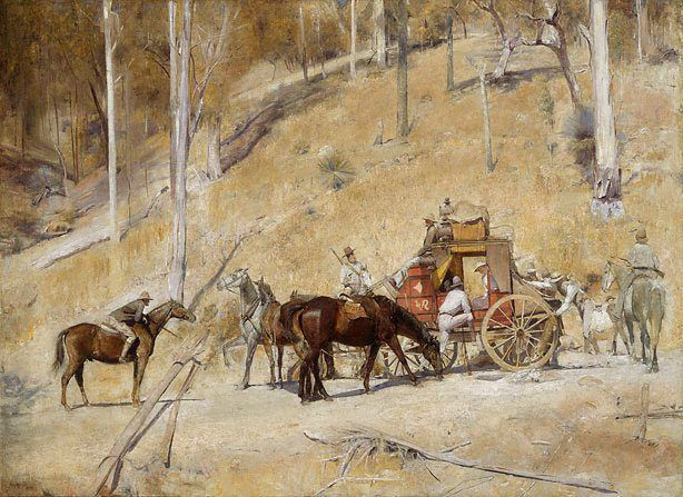 NSW Art Gallery: An image of Bailed up by Tom Roberts