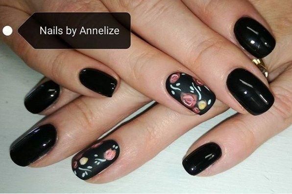 Daneloo Acrylic Nail Salon Black Nail Designs Nails