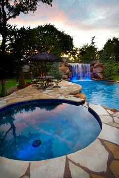 Hunters Creek Estate eclectic pool