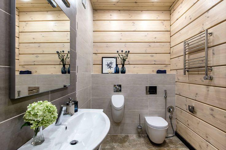 Holzverkleidung Von Wand Und Decke Im Bad Holzverkleidung Wand Mit Holz Verkleiden Wandverkleidung Bad