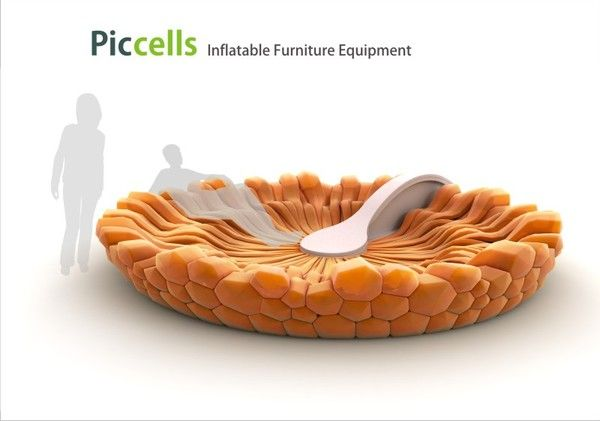 PicCells inflatable furniture equiptment: wild inflatable furniture design!Furniture Inspiration, Anthropology, Butterflies, Igor Lobanov, Inflatable Furniture, Piccel Inflatable, Furniture Design, Furniture Concept, Furniture Equipment