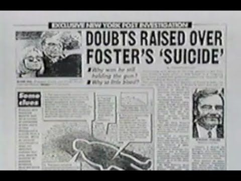 The Mysterious Death of Vince Foster & Bill Clinton Connections - YouTube