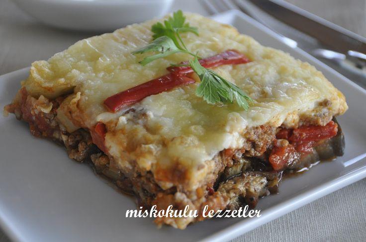 miskokulu lezzetler: Beşamel Soslu Patlıcan Musakka