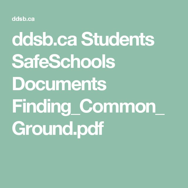 ddsb.ca Students SafeSchools Documents Finding_Common_Ground.pdf