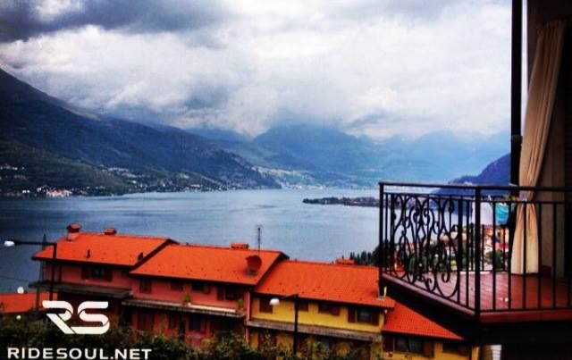 A typical terrace over the Lake of Como! #motorcycle #tour #italy