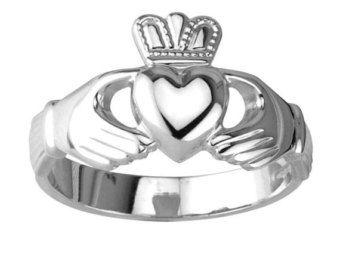 Original anillo de Claddagh plata
