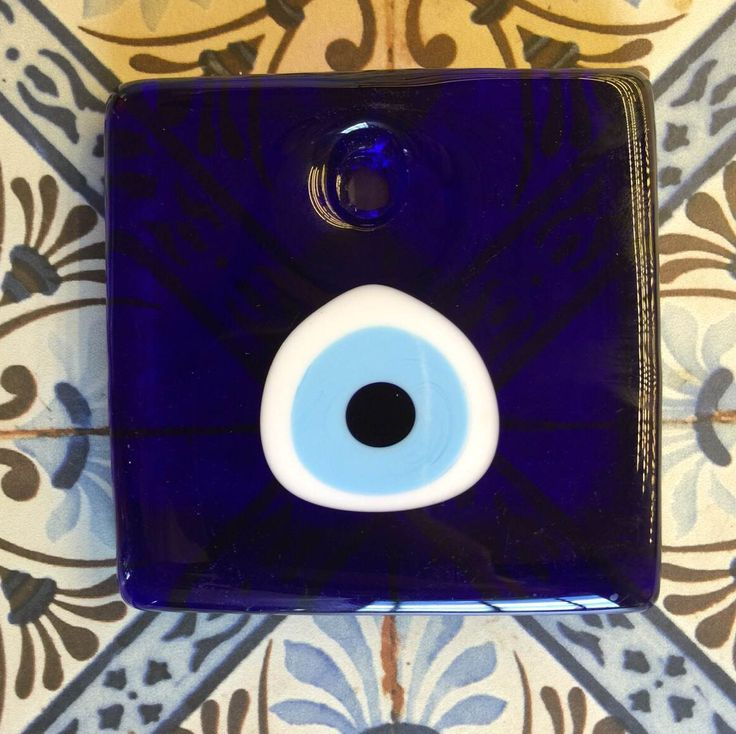 SQUARE EVIL EYE DECOR, 12 cm