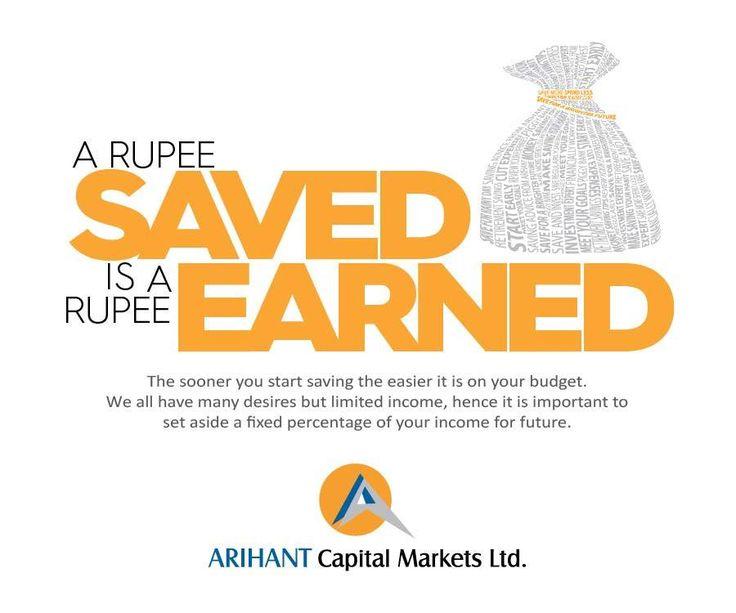 #Wealthwisdom A rupee #SAVED is a rupee #EARNED