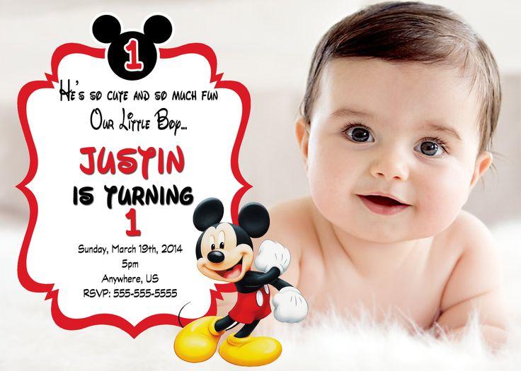 Mickey Photo Birthday Invitation $8.99
