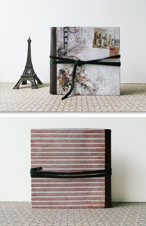 Mini travel scrapbook journal photo album. A photographic trip