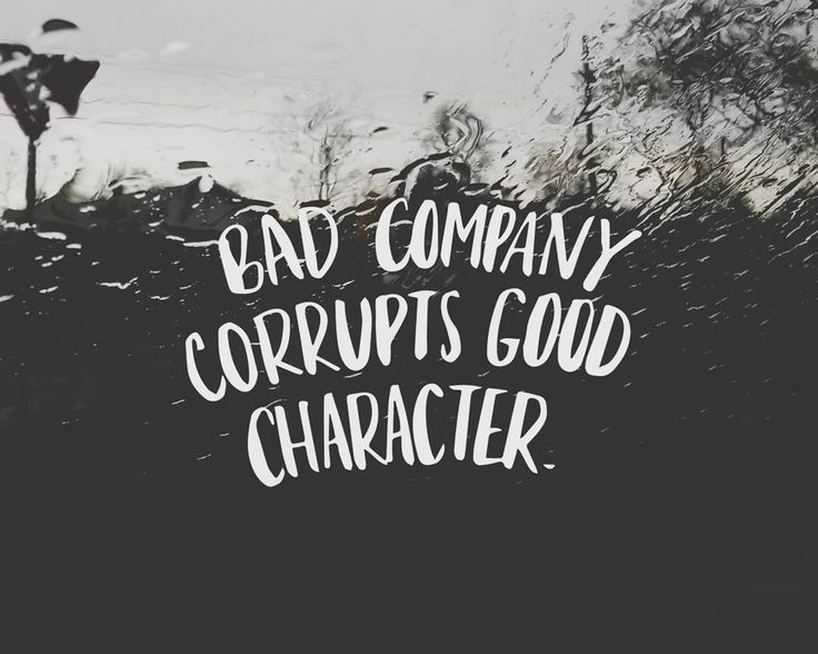 "Bad company corrupts good character // ""Show me your friends and I will show you your future."" People also say that you are the average of five people you spend the most time with. I think we easily forget how much influence our environment has over us. Of course this is not an excuse to say we do things because of our environment, but it's so important to be aware of who and what you surround yourself with. Be kind to everyone, but choose your friends wisely. Choose friends who will speak…"